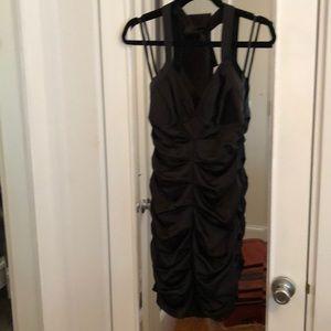 Black BCBG halter dress
